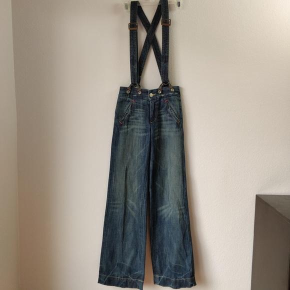 e4e6758fd8a True Religion Distressed Suspenders Overalls Sz 24.  M_5ae7a45c8df4708aeb963fb7. Other Jeans ...